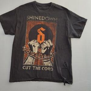 Shinedown Cut the Cord distressed tour shirt sz L